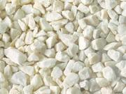 Мрамор белый камень,  мульча (кора сосновая)