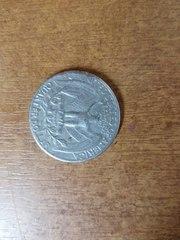 Продам монету QUARTER DOLLAR перевертыш 1967
