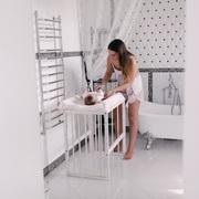 Круглая детская кроватка 8 в 1 дубовая